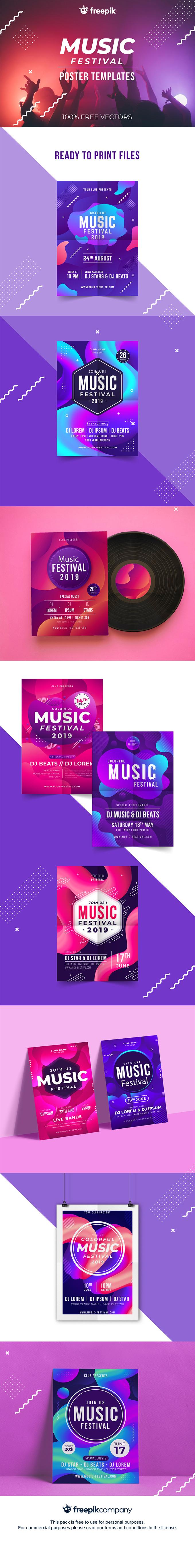 Music Festival Poster Pack