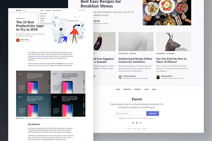 Bootstrap Blog Template – Parrot