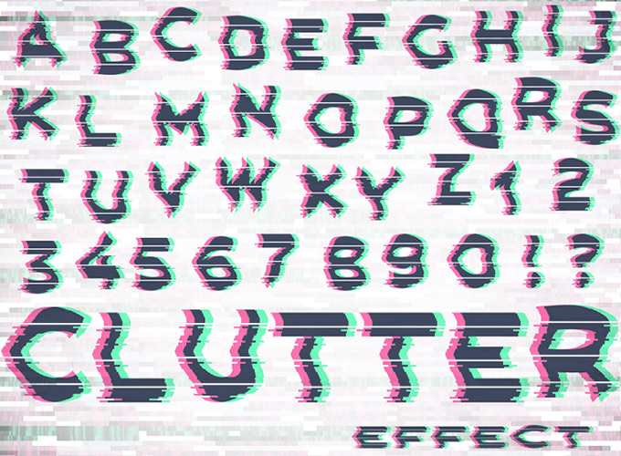 Font Cluttering