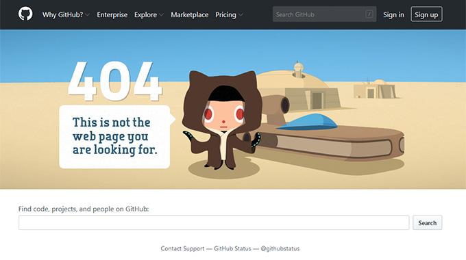 Github.com 404 Page