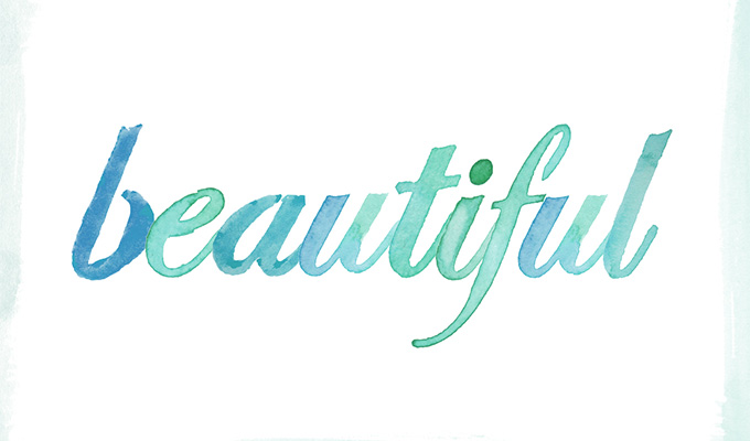 Watercolor Typography