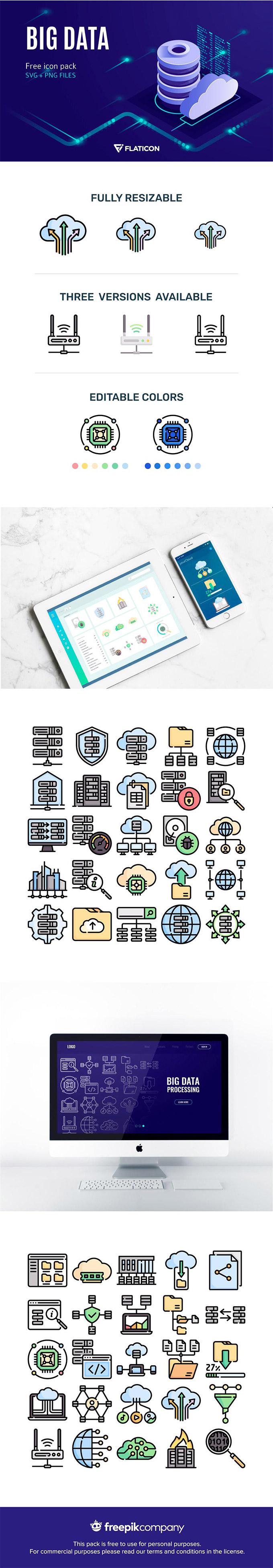 Big Data Icon Set