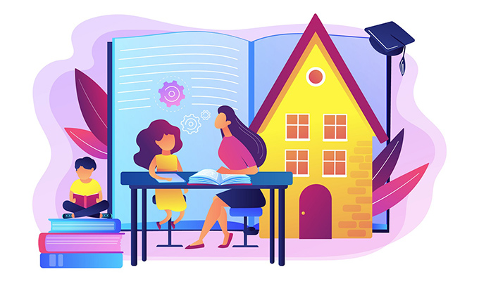 Make learning from home bearable