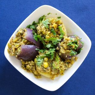 Ravaiya (Stuffed Indian Eggplant)