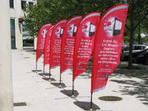 custom printed flags - cic