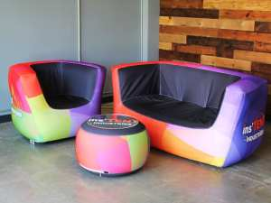 custom inflatable trade show furniture - Air Lounge