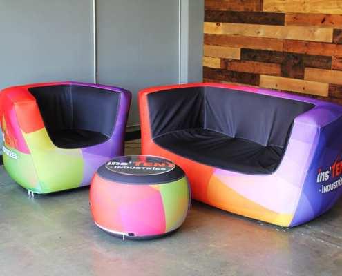 custom inflatable trade show furniture - Air Lounge
