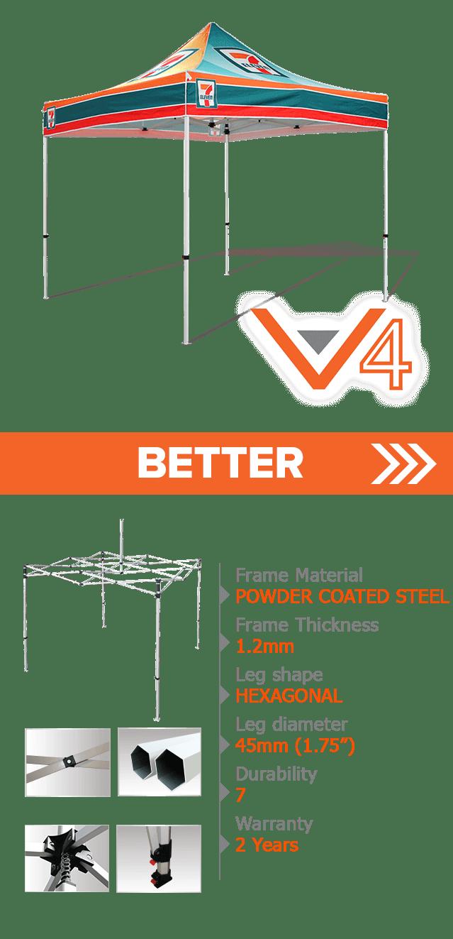 custom printed v4 canopy