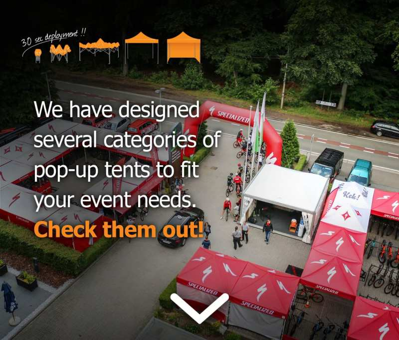 banners pop up tents