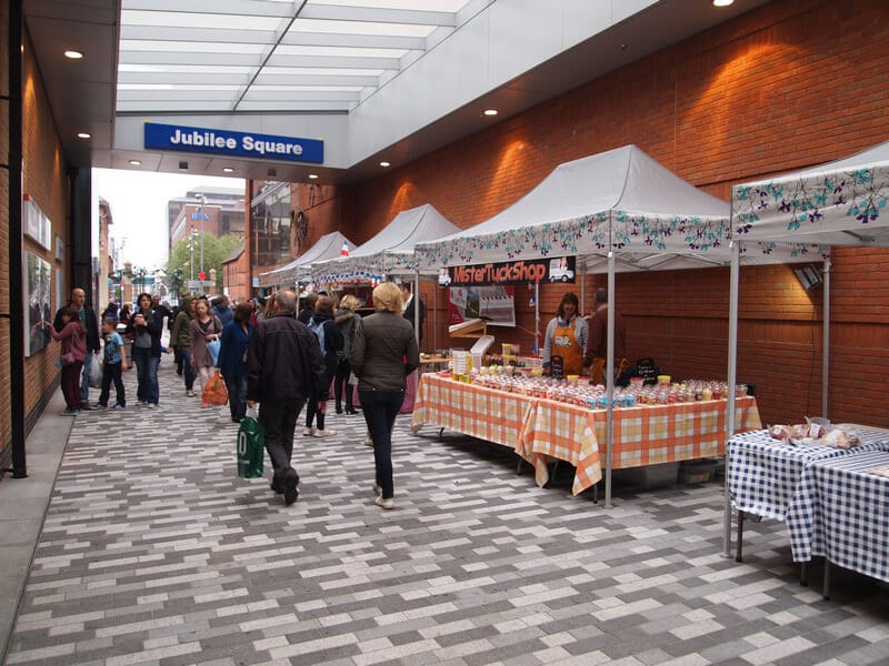 market tent booth