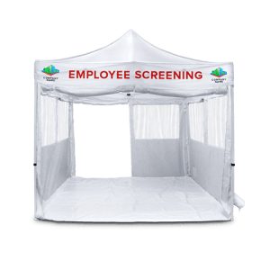 pop up employee screening tent