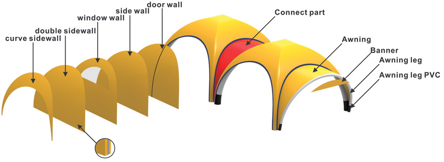Medical Air Dome Wall Options