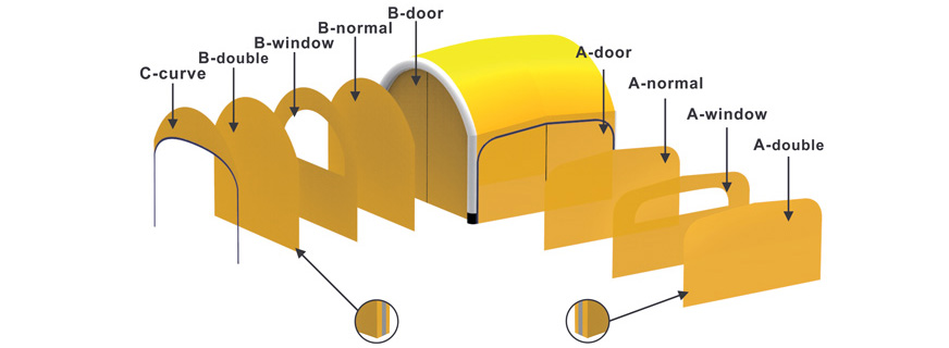 Medical Air Tunnel Wall Options
