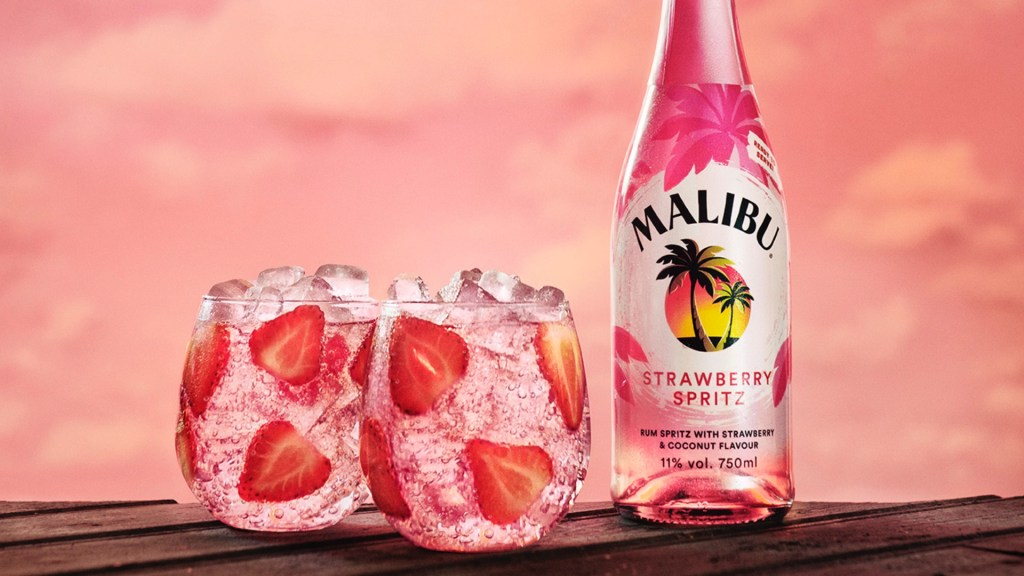 Malibu Strawberry Spritz
