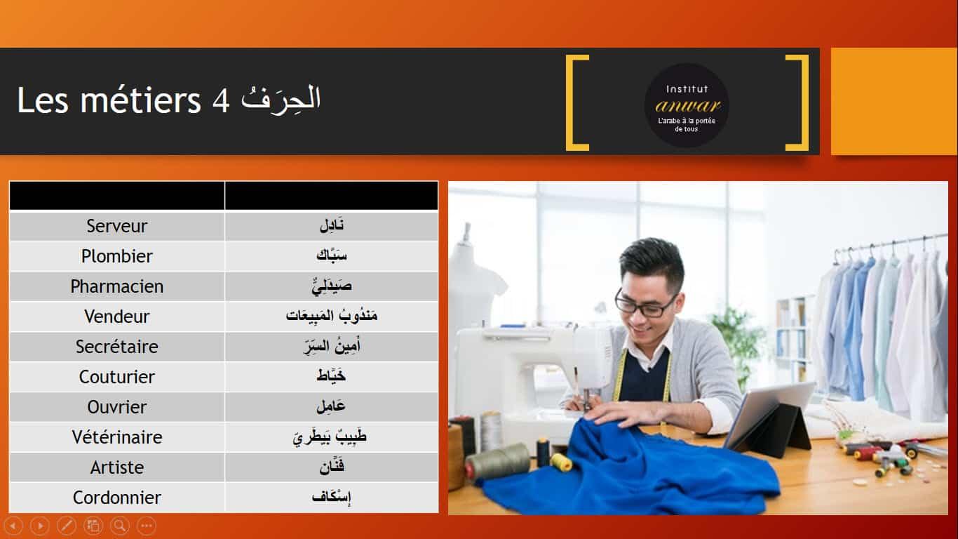 metier arabe