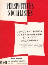 Couverture Perspectives Socialistes N°57-58, Février-Mars 1963