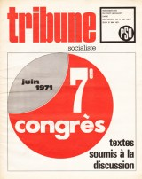 Tribune Socialiste supplément au N°498, 27 Mai 1971