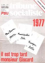 Couverture TS N° 724, 29 Décembre 1976 au 12 Janvier 1977