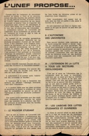 Tract UNEF Propose, 17 Mai 1968