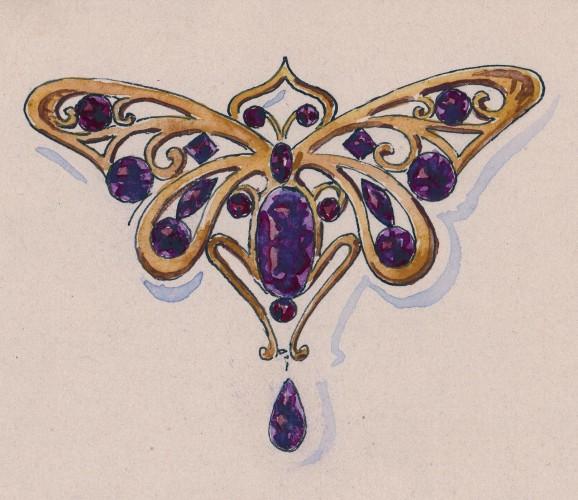grenat de perpignan dans le bijou art