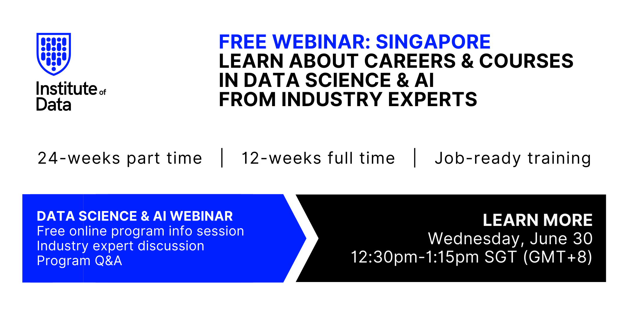 Institute of Data Singapore - Data Science and AI Program - Online Info Session - June 30 2021