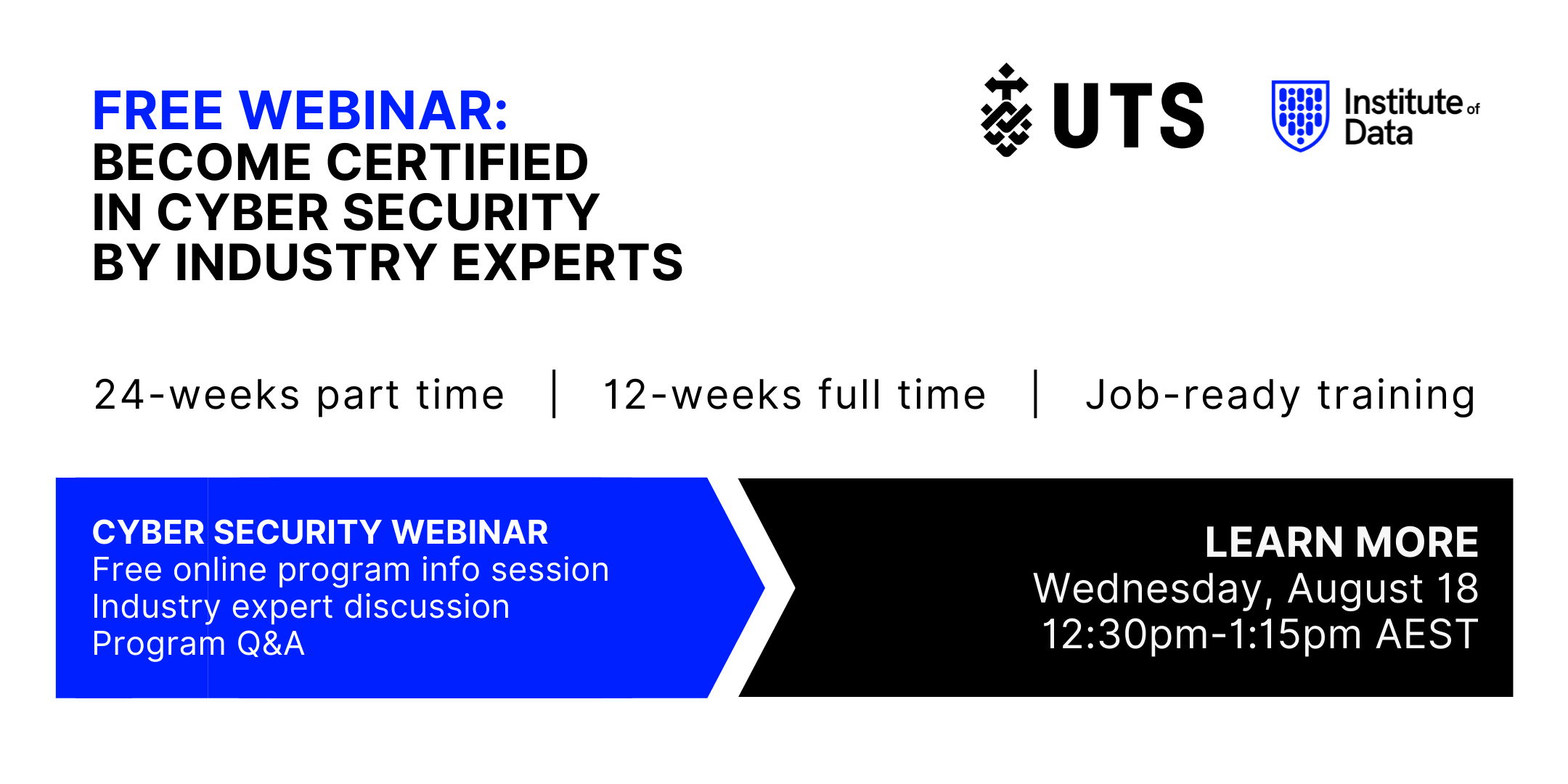Institute of Data UTS - Cyber Security Program - Online Info Session - August 18 2021