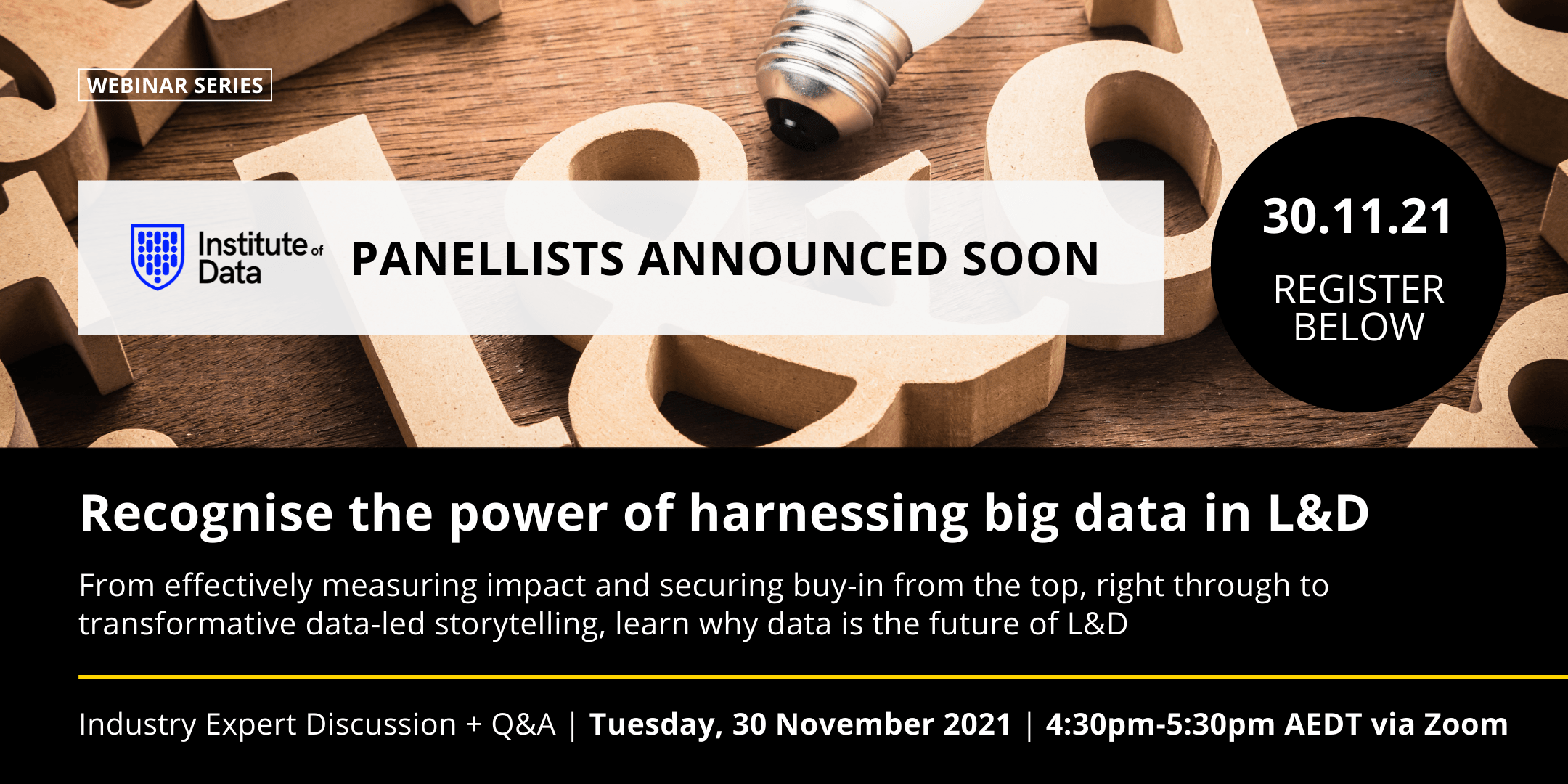 Recognise the power of harnessing big data in L&D APAC - 30 November 2021 - Industry webinar
