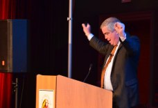 Dave Senay giving 6th Annual Grunig Lecture [Efe Abugo Photography]