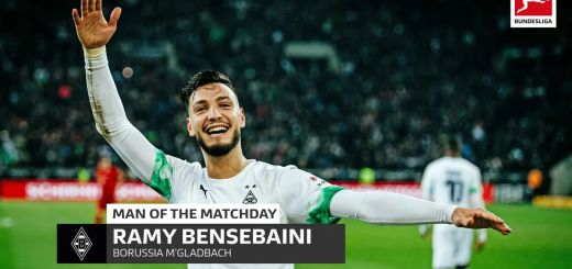 Ramy Bensebaini from JMG player of the year with Borussia