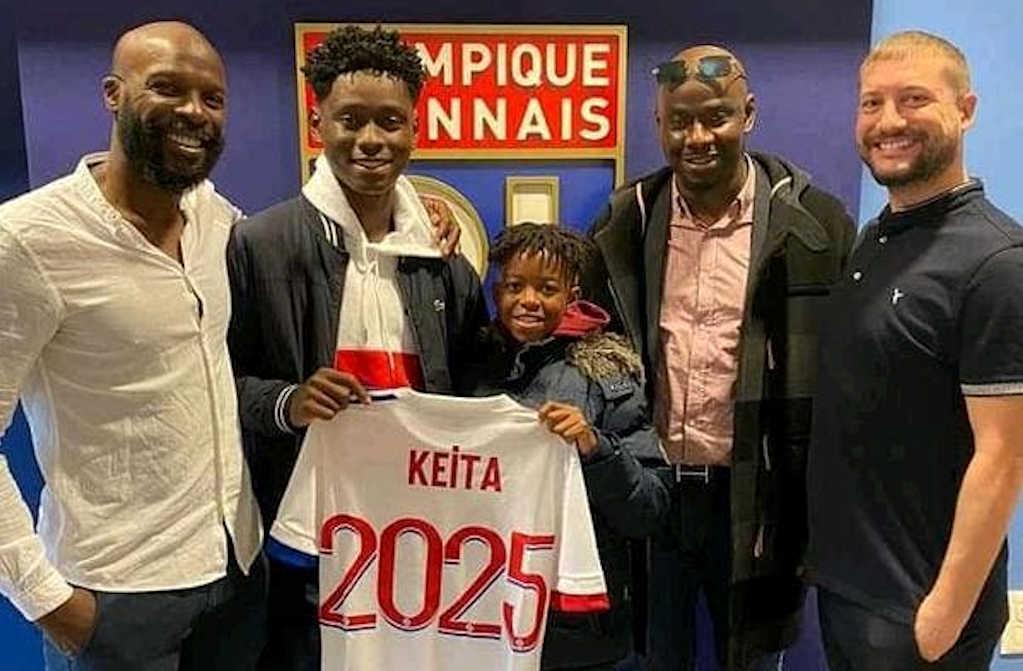 habib-keita des academies jmg avec olympique Lyonnais_ black skills