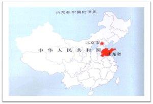 Mapa de Shandong