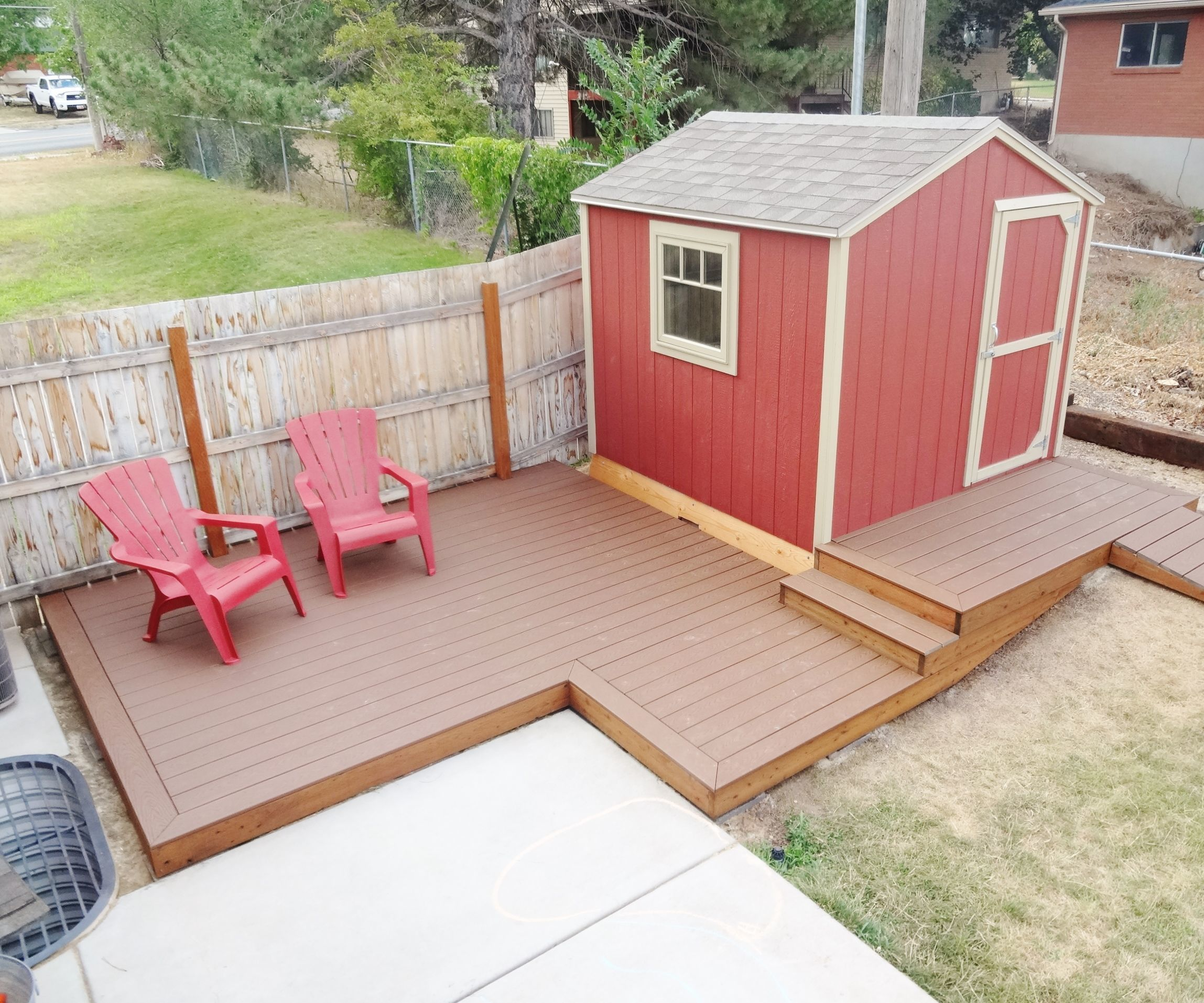 build a floating deck 13 steps with