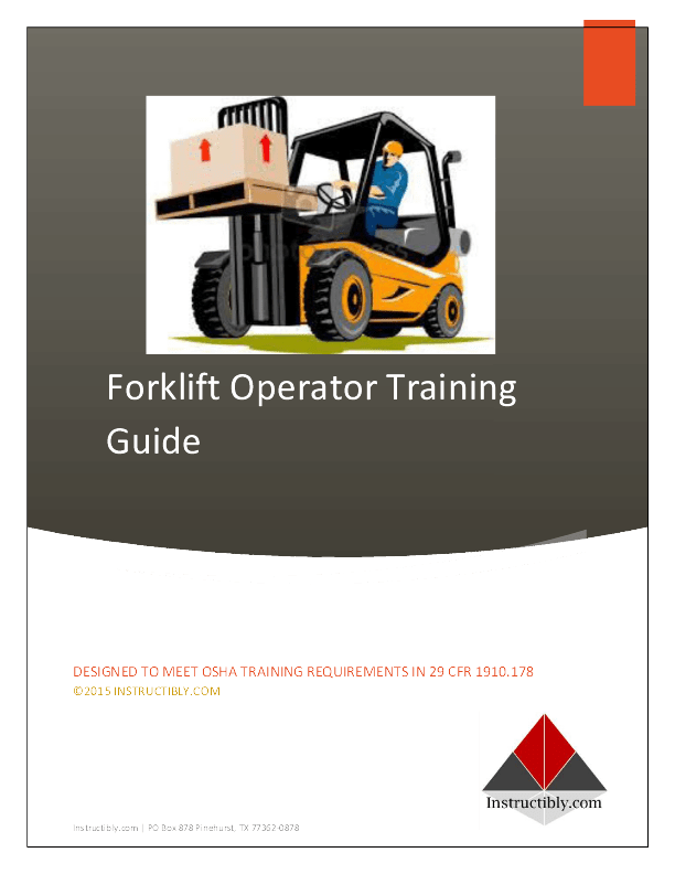 Instructibly Forklift Operator Training Study Guide Instructibly