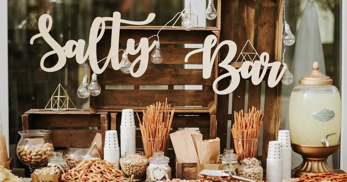 Neuer Wedding Trend Salty Bar Statt Candy Bar