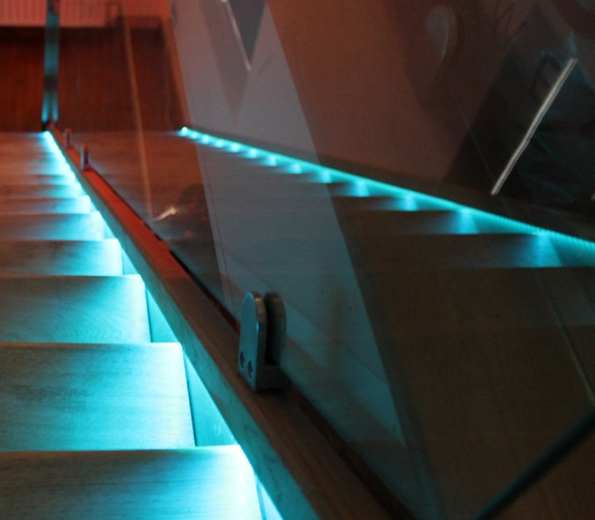 Choose Leds For Handrails Guards And Bannisters   Lighted Handrails For Stairs   Wood Hand Rail Design   Antique   Brushed Nickel   Modern   Acrylic