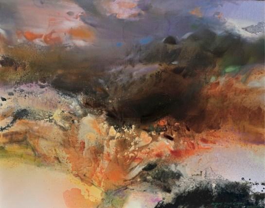 Senza titolo (2014), olio su tela 120 x 180cm
