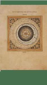 Tavola Instrumentum Veri Motus Lunae Minue. in J. Regiomontanus, Calendarium, Venezia, B. Maler, P.Löslein, E. Ratdolt, 1476 (Milano, Biblioteca Francescana).