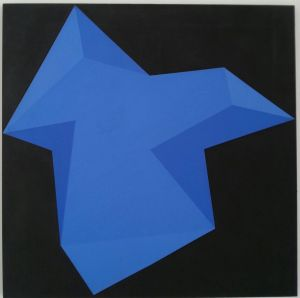 Pittura A 17, 1972, acrilico stratificato su tela, 100x100cm