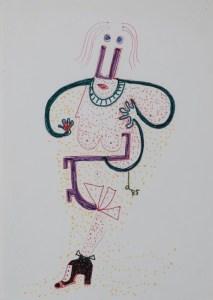 Senza titolo (1985), matita e pennarello su carta cm 30x19,5, courtesy museo mmmac