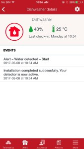 Screen shot: Alert water detection program (State Farm Mutual Automobile Insurance Co.)