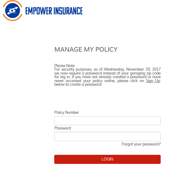 Empower Auto Insurance Login