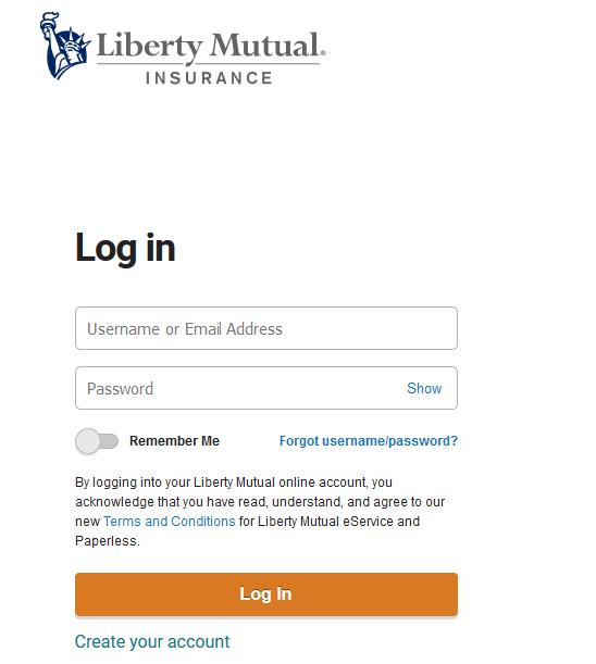 Liberty Mutual Auto Insurance Login