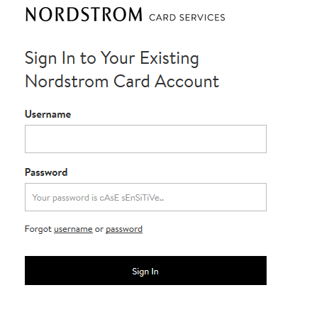 Nordstrom Credit Card Payment