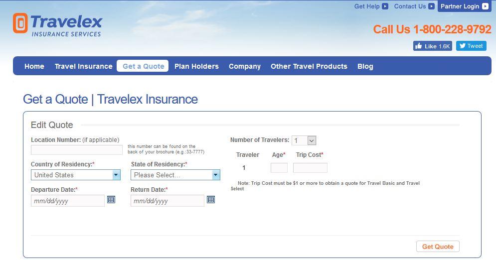 Travelex Insurance Login at www.travelexinsurance.com