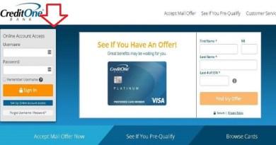 Credit-One-Bank-Login