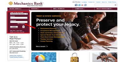Mechanics Bank Login: Sign In To Access Your Bank Account