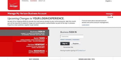 My Business Account   Verizon Business Login – Make a Payment