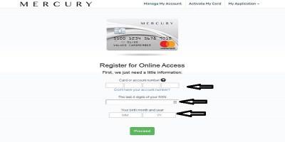 Mercury Credit Card Login   Mercury Credit Card Bill Pay