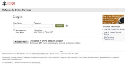 UBS Online Login: Sign In To Manage Your Account