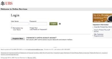 UBS Online Login Procedure